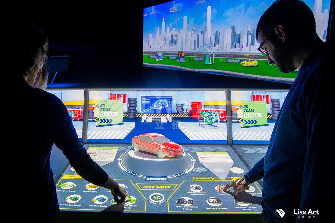 展厅展馆桌面投影互动展示系统4